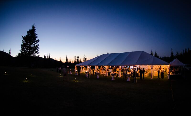 Wedding Tent Outdoors Night