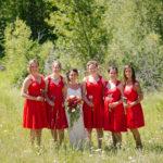 Bridal Party Outdoor Wedding