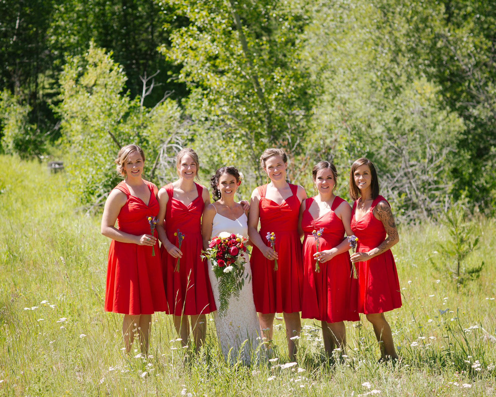 Bridal Party Outdoor Wedding