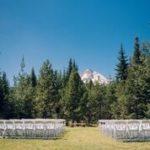 Wedding Venue Log Home Backyard Mt. Hood