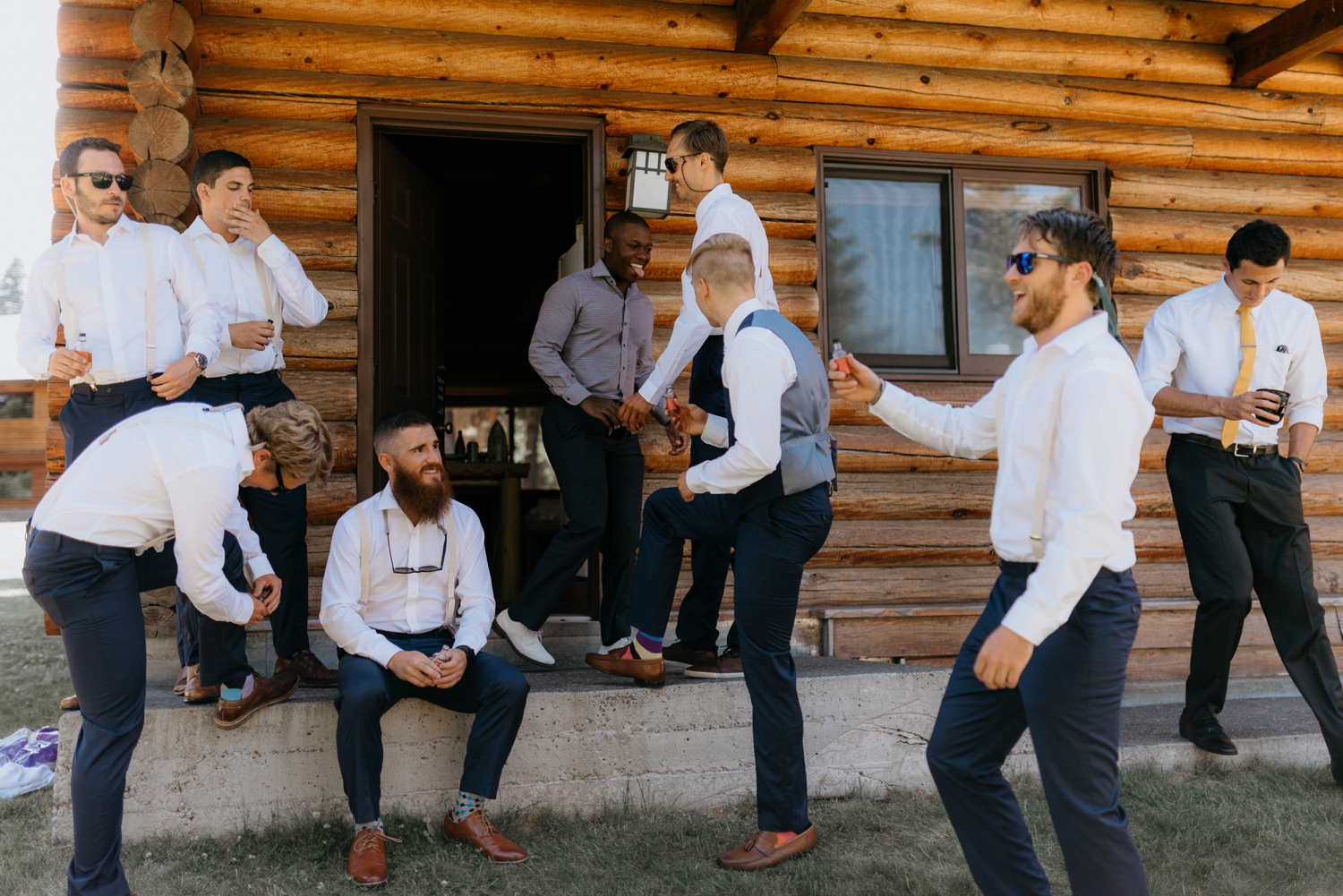 Wedding Party Outdoor Cabin