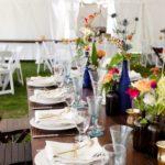 Wedding Tent Setup Outdoors Empty