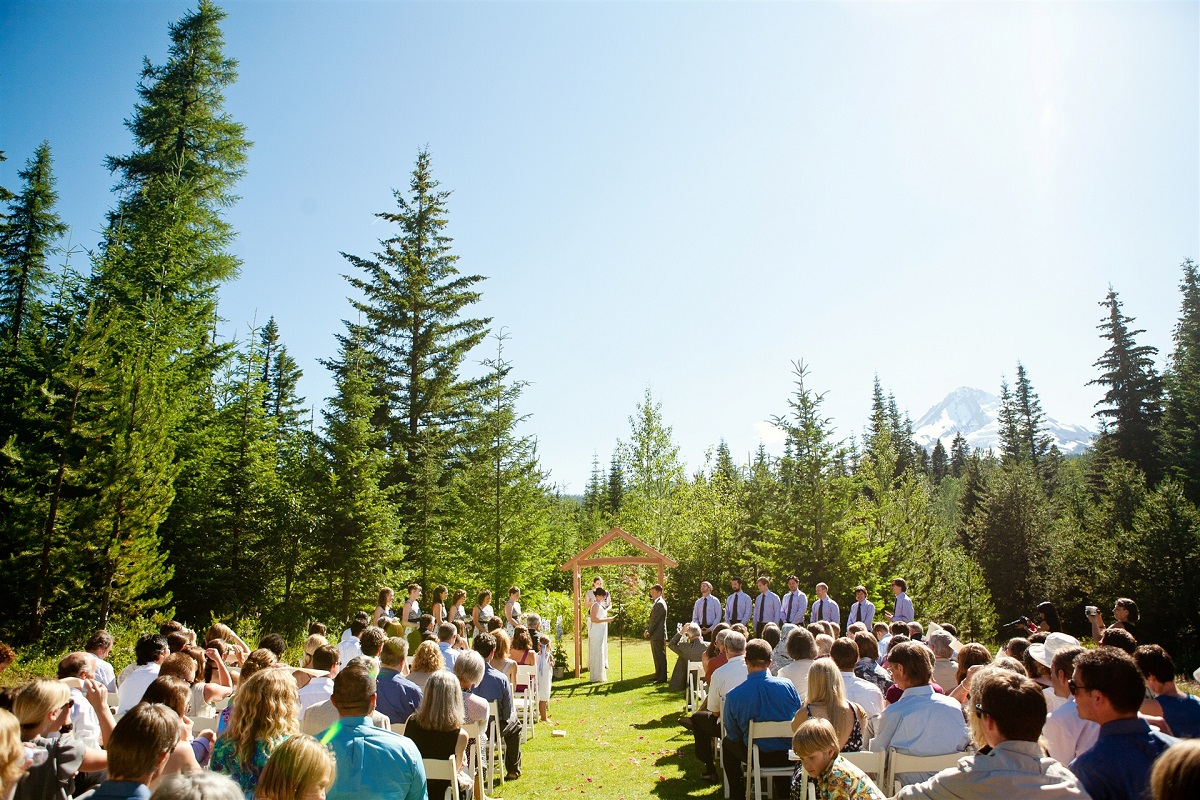 Log Home Wedding