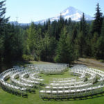 Wedding Venue Log Home Backyard Mt. hood No People