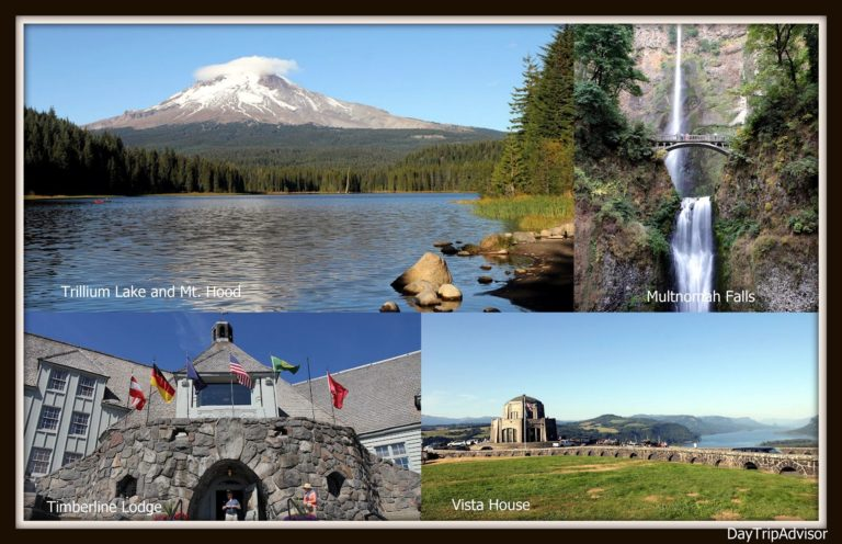 Mt. Hood Trillium Lake Multnomah Falls Timberline Lodge Vista House