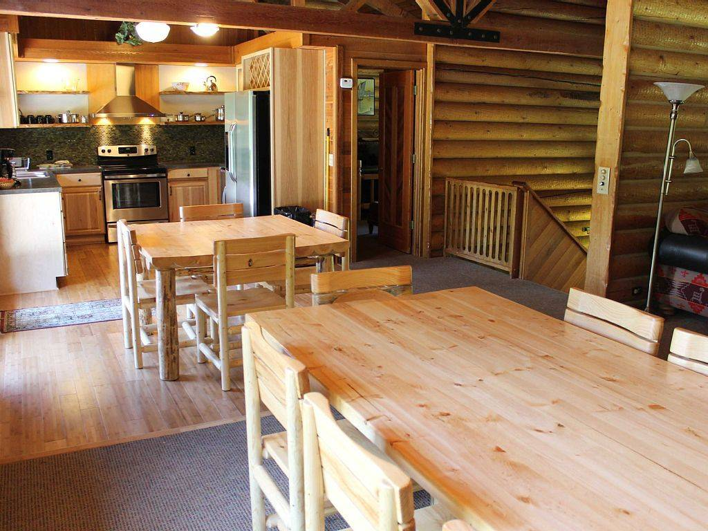 Private Log Home Kitchen