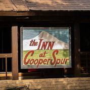 The Inn at Cooper Spur sign Repainted