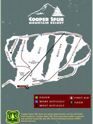 Cooper Spur Ski Area Trail Map