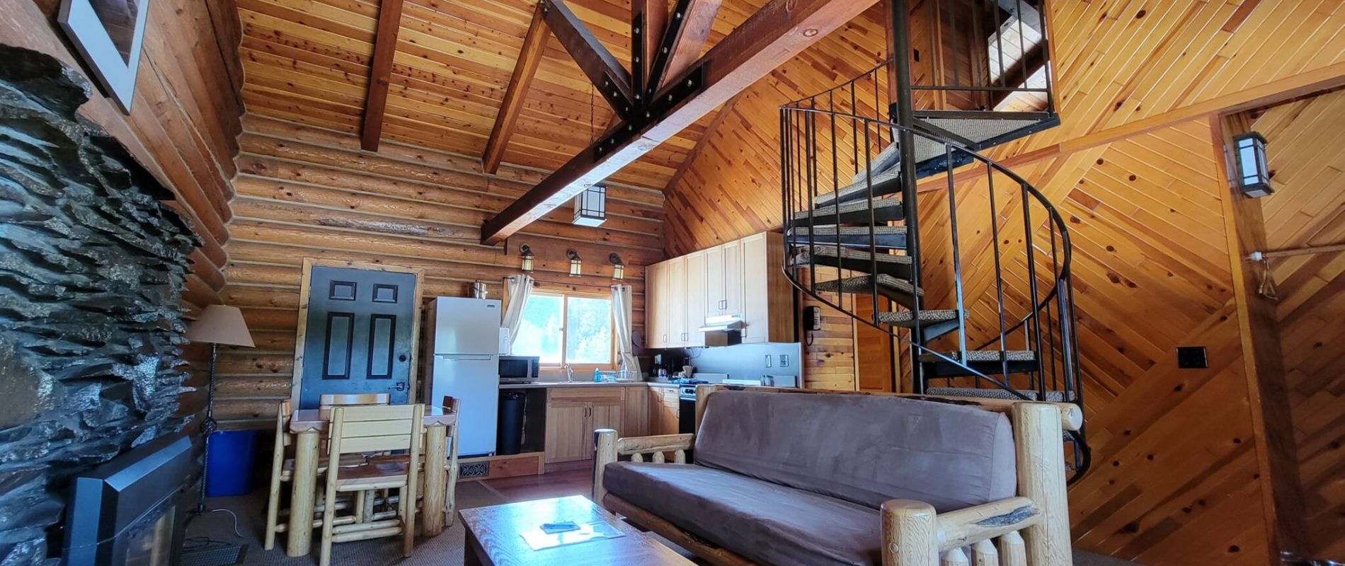 Cabin Living Room at Cooper Spur Mountain Resort Mt Hood