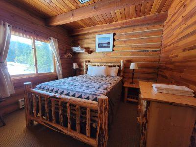 Cabin's Queen Bedroom at Cooper Spur Mountain Resort on Mount Hood